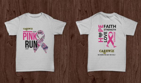 Pink Run T'shirt Design